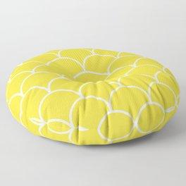 Scales - yellow Floor Pillow