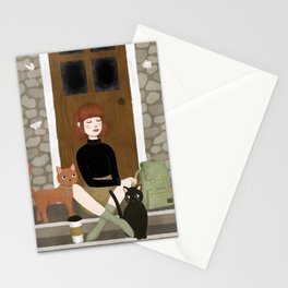 cats & coffee Stationery Cards