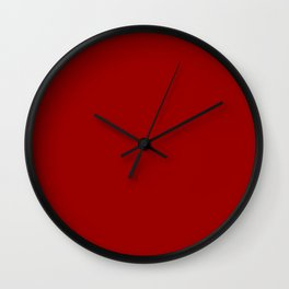 OU Crimson Red - solid color Wall Clock