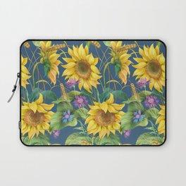 Sunflower, cornflower and barley seamless  pattern Laptop Sleeve