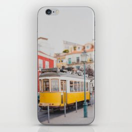 Yellow Tram in Lisbon iPhone Skin