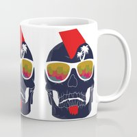 bones Mugs featuring Bones by  Steve Wade ( Swade)