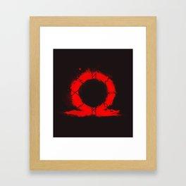 BOY god of war Framed Art Print