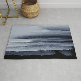 Abstract black painting 2 Rug