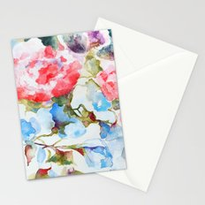 Peonies and Morning Glory Stationery Cards