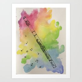 Just Flutiful Art Print