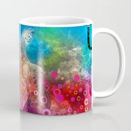 Sea Turtle In Living Color Coffee Mug