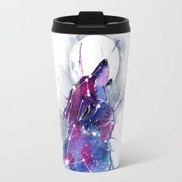 Galaxy Wolf Travel Mug