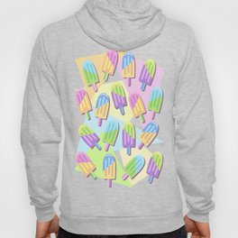 Ice Lollipops Popsicles Summer Punchy Pastels Colors Pattern Hoody