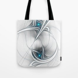 Come Together, Abstract Fractal Art Tote Bag