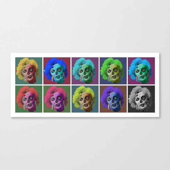 Zombies are a Girl's Best Friend Canvas Print