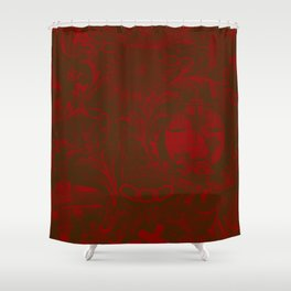Burgundy IOOF Woven Tapestry Print Shower Curtain