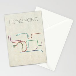 Minimal Hong Kong Subway Map Stationery Cards