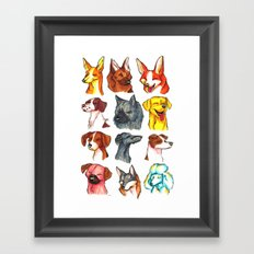 Brush Breeds Compilation 2 Framed Art Print