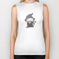 gandalf Biker Tanks featuring Gandalf by Justin Temporal