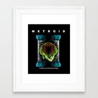 metroid Framed Art Prints featuring Metroid by MeleeNinja