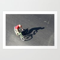 cycling Art Prints featuring Cycling by Avigur