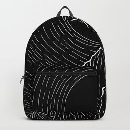 The dark sun over the mountains Backpack