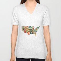 Geometric United States Unisex V-Neck