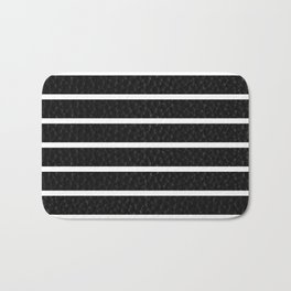 Leather Stripes Bath Mat