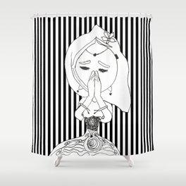 Namaste | Painting by Elisavet #society6 Shower Curtain