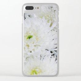 White Chrysanthemum Flowering Herb Clear iPhone Case
