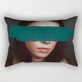 Modest, Methodical, Magnetic. Rectangular Pillow