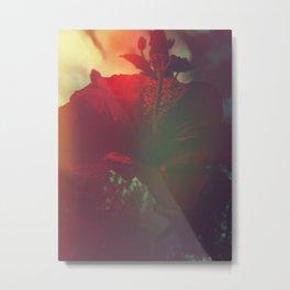 Solarized Hibiscus Metal Print