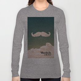 Mustache In the Cloud Long Sleeve T-shirt