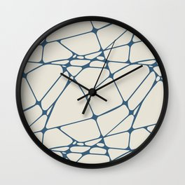 Blue & Linen White Abstract Mosaic Pattern 1 Pairs To 2020 Color of the Year Chinese Porcelain Wall Clock