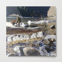 Natural ice sculptures of Squamish River Metal Print