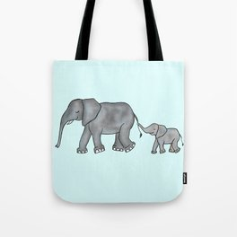 I Will Never Forget You- Mama and Baby Elephant Tote Bag