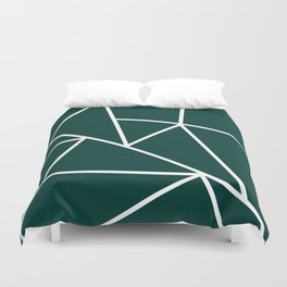 Emerald Mountain Lines Duvet Cover