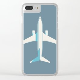 737 Passenger Jet Airliner Aircraft - Slate Clear iPhone Case