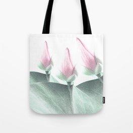 Pastel Pink Floral Beauty Tote Bag