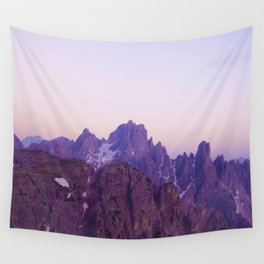 Mountains of Violet Wall Tapestry
