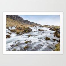 Iceland Waterfall Art Print