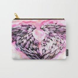Pink Angel Wings  Carry-All Pouch