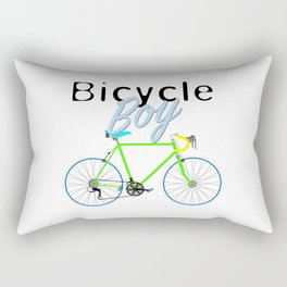 Bicycle Boy – June 12th – 200th Birthday of the Bicycle Rectangular Pillow