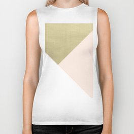 Gold meets Blush & White Geometric #1 #minimal #decor #art #society6 Biker Tank