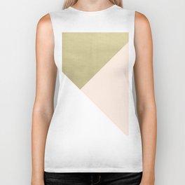 Gold meets Blush & White Geometric #1 #minimal #decor #art #society6 Biker Tank