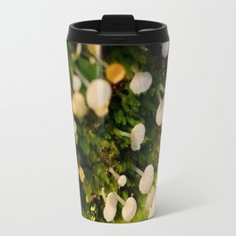 Cute Little White Mushrooms Travel Mug