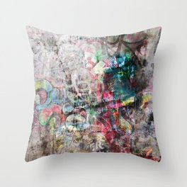 Grunge wall in Brixton Throw Pillow