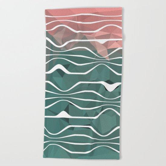 In Between #1 #society6 #art Beach Towel