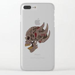 Cyberpunk Skull | Futuristic Death Tribal Clear iPhone Case