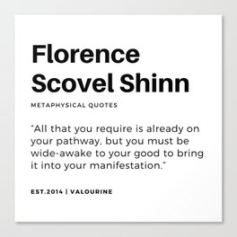 49    | Florence Scovel Shinn Quotes | 200126 Canvas Print