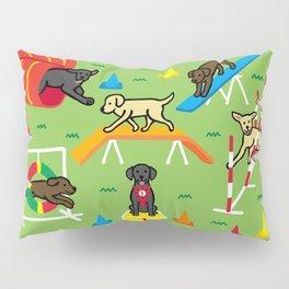 Labrador Retriever Dog Agility Fun Pillow Sham
