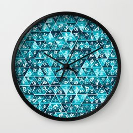 Shadowhunters Runes Mosaic Wall Clock