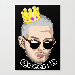 Queen B - White Borders Canvas Print