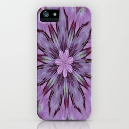 Floral Abstract Of Pink Hydrangea Flowers iPhone Case